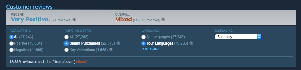 Mixed Steam Review