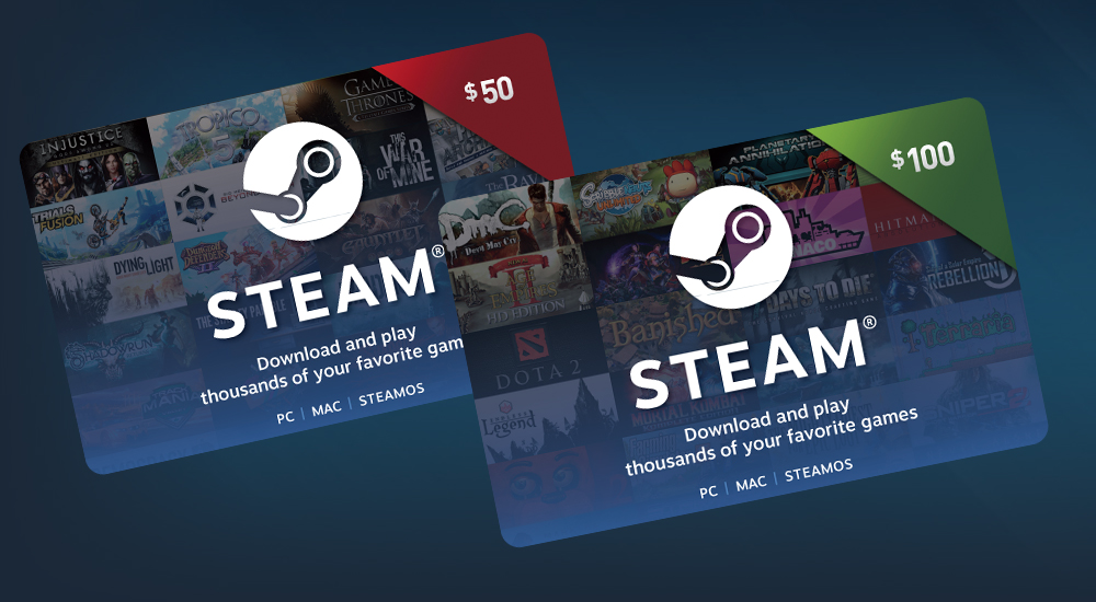 Steam Digital Gift Cards